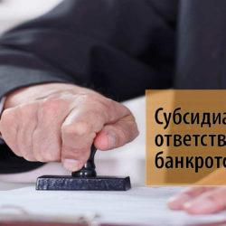 Субсидиарная ответственность при банкротстве: понятие и сущность данного процесса